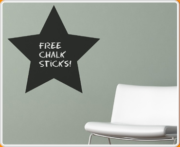 Star Chalkboard Wall Sticker