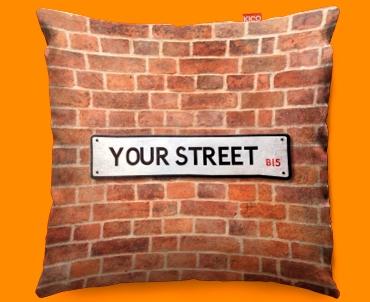 Street Sign UK Personalised Funky Sofa Cushion 45x45cm