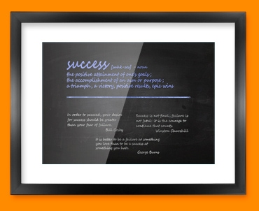 Success Definition Framed Print