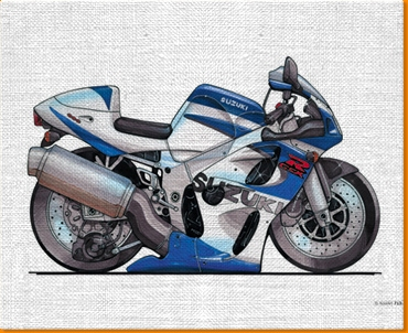 Suzuki RGSX Canvas Art Print