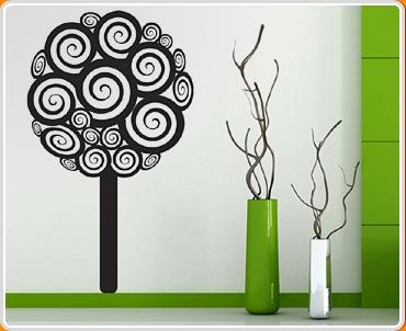 Swirly Tree Wall Sticker