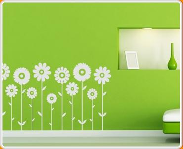 Symmetrical Flowers Set Wall Sticker