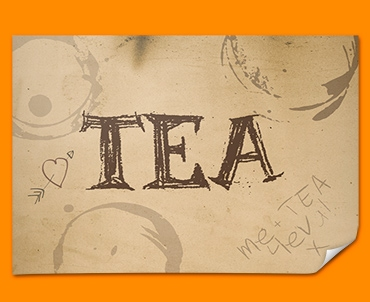 Tea Rings Typography Poster