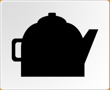 Teapot Chalkboard Wall Sticker