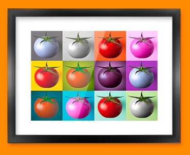 Tomato Collage Framed Print