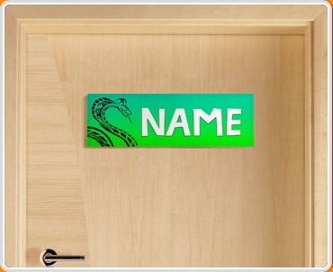 Tribal Snake Personalised Name Children's Bedroom Door Sign
