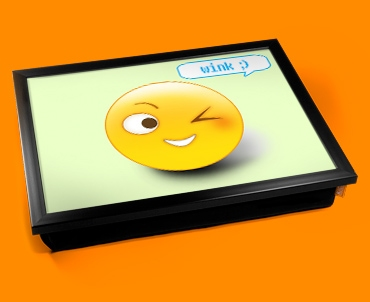 Wink Emoticon Lap Tray