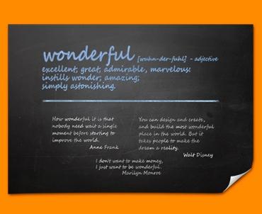 Wonderful Definition Poster