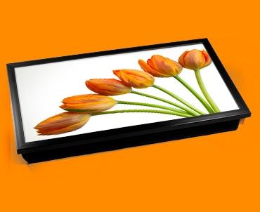 Yellow Tulips Laptop Lap Tray