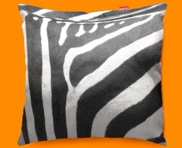 Animal Skin Zebra Funky Sofa Cushion 45x45cm