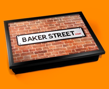 Baker Street Sign Cushion Lap Tray