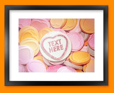 Candy Sweet Hearts Framed Print