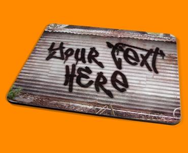 Personalised Custom Graffiti Shed Placemat