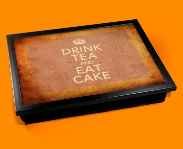 Drink Tea Keep Calm Vintage Lap Tray