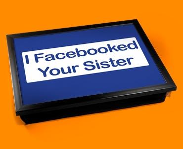 Facebook Sister Cushion Lap Tray
