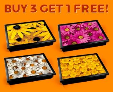 Flowers Cushion Lap Tray Set
