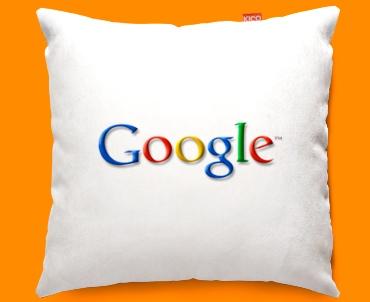 Google Logo Funky Sofa Cushion 45x45cm