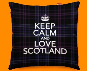 Keep Calm Love Scotland Purple Funky Sofa Cushion 45x45cm