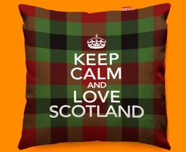 Keep Calm Love Scotland Red Funky Sofa Cushion 45x45cm