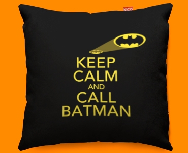 Keep Calm Call Batman Funky Cushions 45x45cm