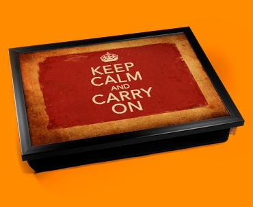 Keep Calm and Carry On Vintage Lap Tray