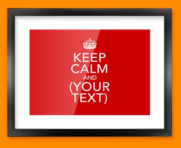 Keep Calm Custom Framed Print
