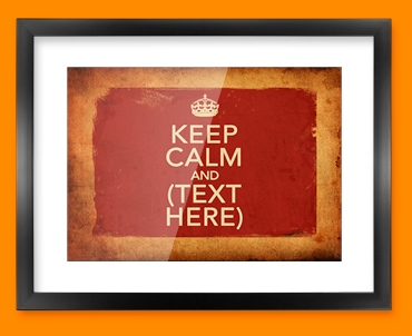 Keep Calm Vintage Custom Framed Print
