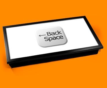 Key Back Space White Laptop Tray