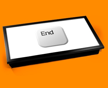 Key End White Laptop Tray