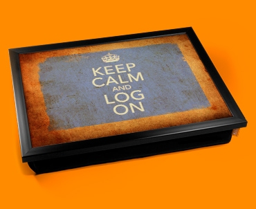 Log On Keep Calm Vintage Lap Tray