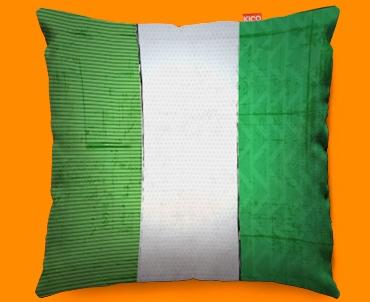 Nigeria Flag Cushion 45x45cm