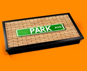 Park Ave Street Sign Laptop Lap Tray