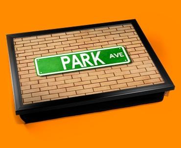 Park Ave Street Sign Cushion Lap Tray