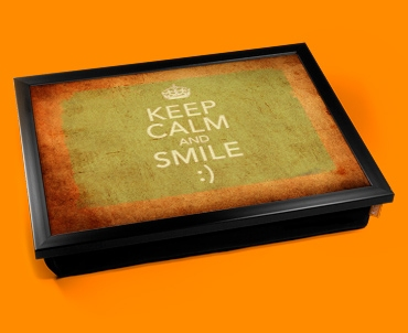 Smile Keep Calm Vintage Lap Tray