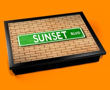 Sunset Blvd Street Sign Cushion Lap Tray