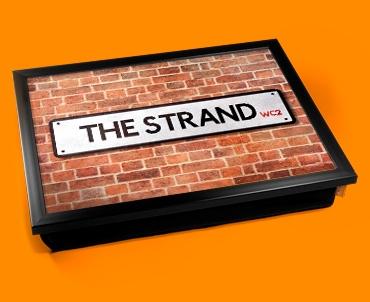 The Strand Street Sign Cushion Lap Tray