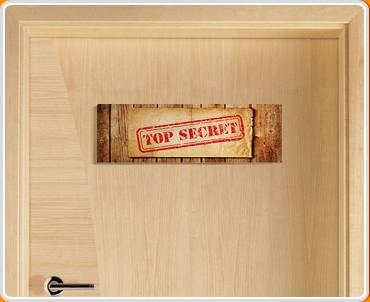 Top Secret Children's Bedroom Door Sign