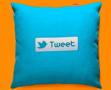 Twitter Tweet Funky Sofa Cushion 45x45cm