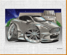 007 Aston Martin Canvas Art Print