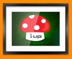 1UP Mushroom Framed Print