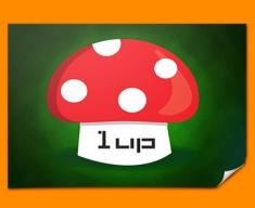 1UP Mushroom Poster