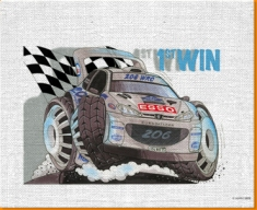 206 Rally Canvas Art Print