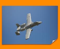 A 10 Thunderbolt Fairchild Republic Plane Poster