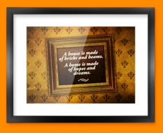 A House is Made Heart Warmer Framed Print