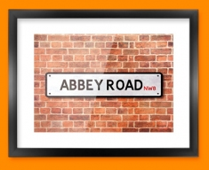 Abbey Road UK Street Sign Framed Print