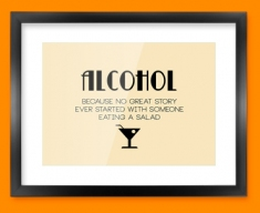 Alcohol Typography Framed Print