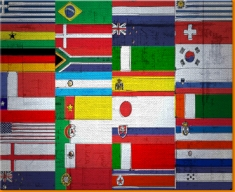 All Flags Canvas Art Print