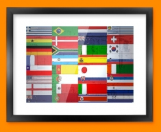 All Flags Framed Print