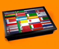 All Flags Cushion Lap Tray