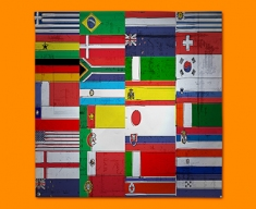All Flags Napkins (Set of 4)